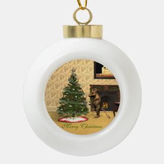 Mouse's Christmas Ceramic Ball Christmas Ornament