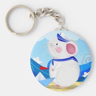 Mouse Sailor button keychain