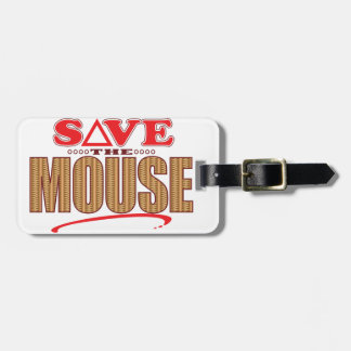 Mouse Save Luggage Tag