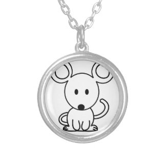 Mouse Silver Plated Necklace