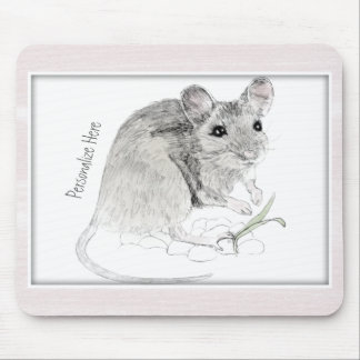 Mouse Sketch Framed and Personalized Mouse Pad