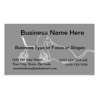 mouse sniffing wheeled horse dark cute animal business card templates