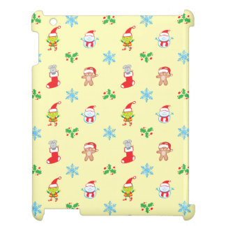 Mouse, snowman, teddy and elf Christmas pattern Case For The iPad 2 3 4