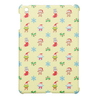 Mouse, snowman, teddy and elf Christmas pattern Cover For The iPad Mini