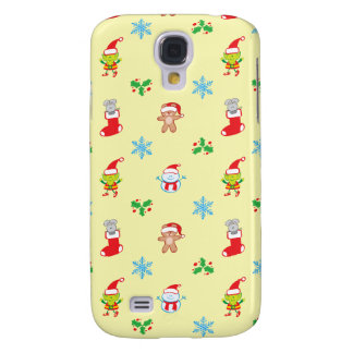 Mouse, snowman, teddy and elf Christmas pattern Samsung Galaxy S4 Case