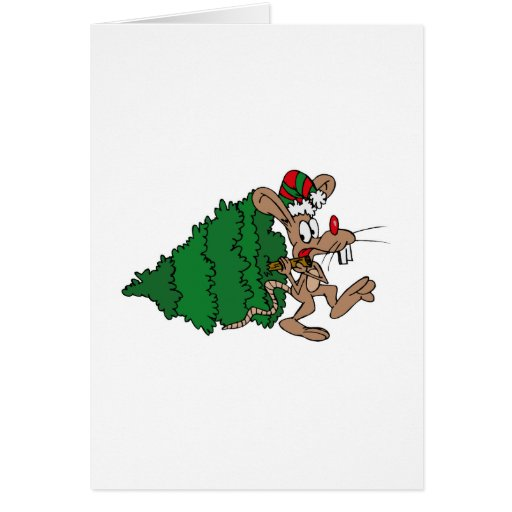 Mouse Stealing Tree Cards