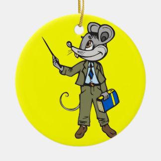 Mouse Teacher Ornaments