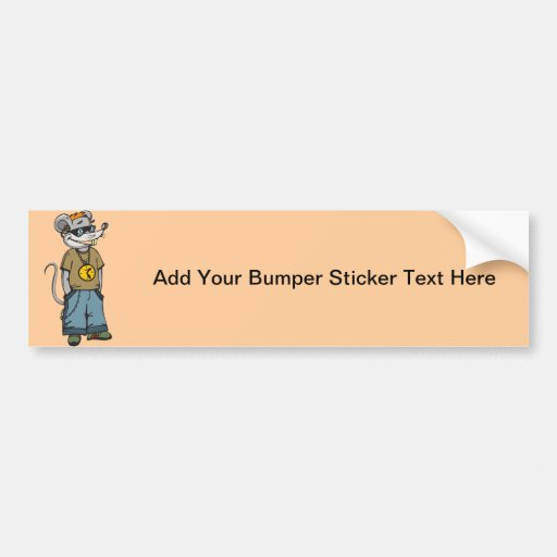 Mouse Teenager Bumper Stickers