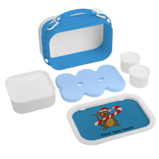 Mouse with a Christmas candy cane Lunch Box