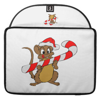Mouse with a Christmas candy cane Sleeve For MacBooks