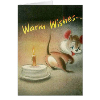 Mouse with Birthday Cake Card