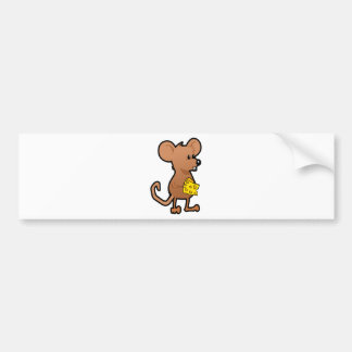 Mouse with Cheese Bumper Sticker