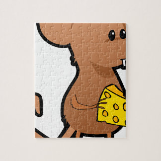 Mouse with Cheese Jigsaw Puzzle