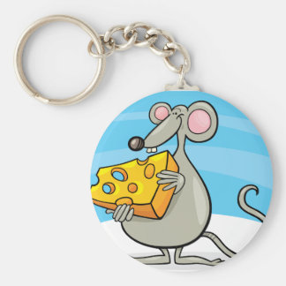 Mouse With Cheese Keychain