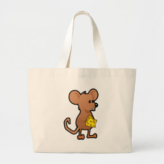 Mouse with Cheese Large Tote Bag