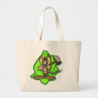 Mouse with Hammer Large Tote Bag