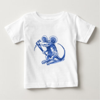mouse with hard plank blue baby T-Shirt