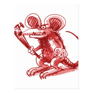 mouse with hard plank postcard