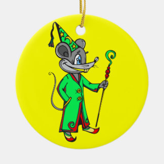 Mouse Wizard Round Ceramic Decoration