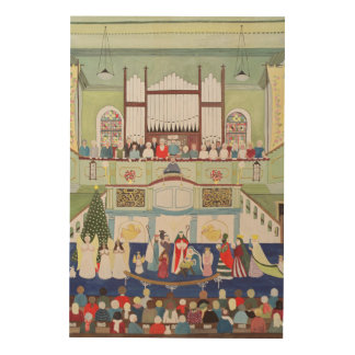 Mousehole Methodist Chapel Cornwall Wood Print