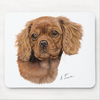 Mousemat : Cavalier king charles spaniel pup Mouse Pad