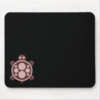 Mousemat, round turtle, brown pinkish tan, black mouse pad