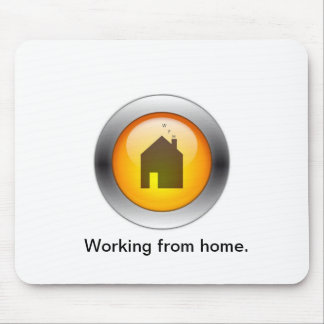 """Mousepad-Amber, Working from home>"""" Mouse Pad"""