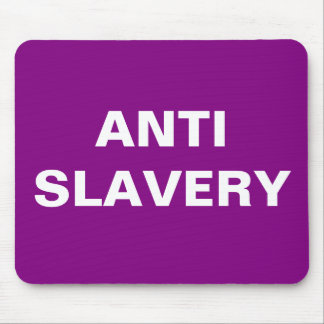 Mousepad Anti Slavery  Purple