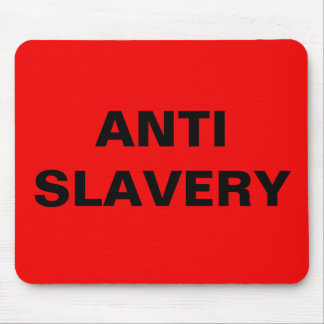 Mousepad Anti Slavery Red