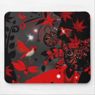 Mousepad Asian Red Birds