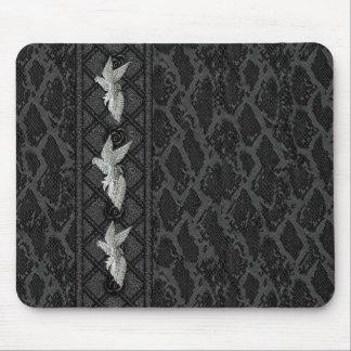 Mousepad Black Leather Bird Jewel (047-015)