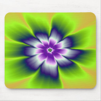 Mousepad   Blue Green and Violet Daisy Flower