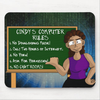 Mousepad: Cindy's Computer Rules Mouse Pad