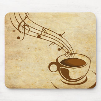Mousepad coffee with music