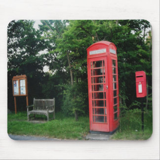 Mousepad Countryside Red Phone and Mail Box