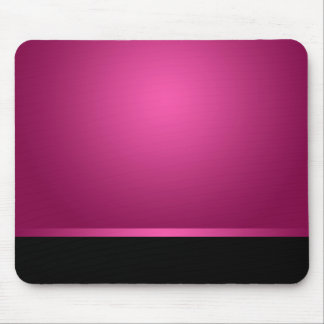 Mousepad Dark Hot Pink & Black Mousemat