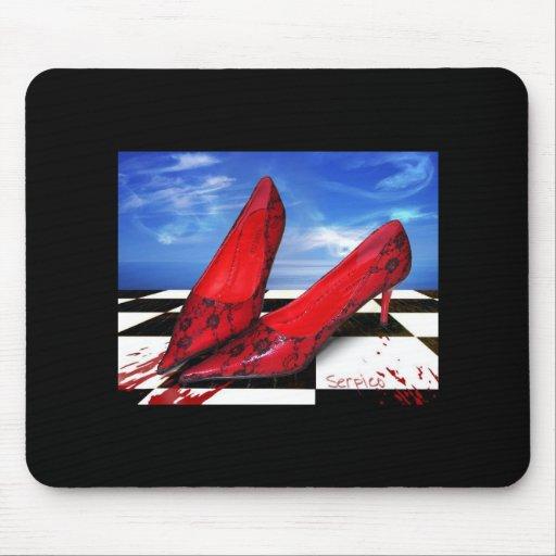 Mousepad-Designed Shoe Grunge, Gothic