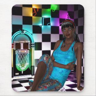 Mousepad Fantasy Art Juke Box Music Girl