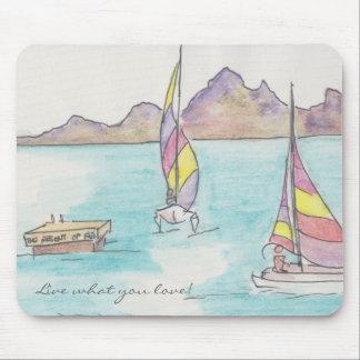 """Mousepad """"Fiji Watercolor Sketch"""""""