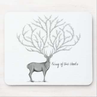 Mousepad for computer with Red deer B/N