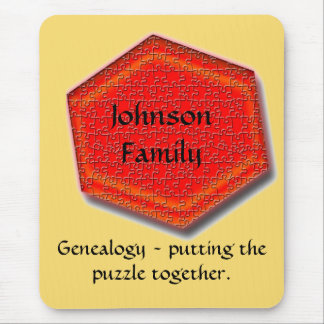 Mousepad - Genealogy - Putting the Puzzle Together