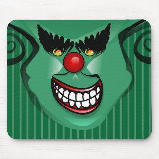 Mousepad - Halloween Scary Face Green