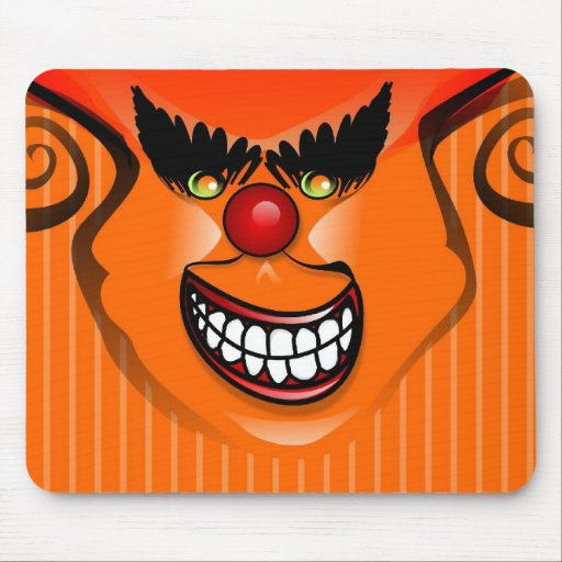 Mousepad - Halloween Scary Face Orange