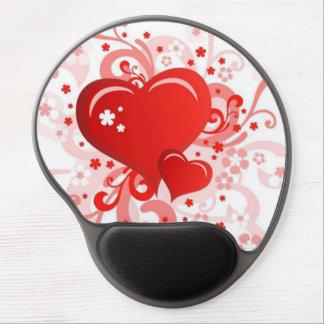 Mousepad/Hearts Gel Mouse Pad