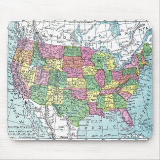 Mousepad:  Map of United States, 1921 Mouse Pad