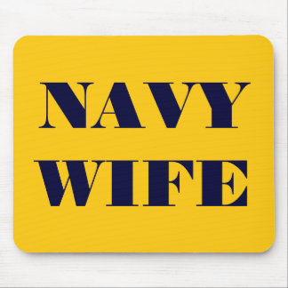 Mousepad Navy Wife