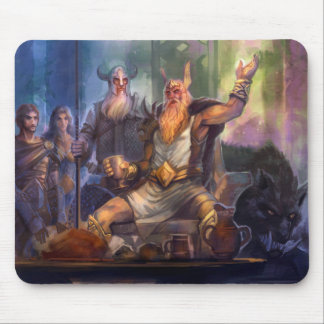 Mousepad - Odin and Einherjars