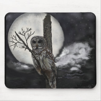 Mousepad of Bard Owl in Night Sky