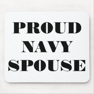Mousepad Proud Navy Spouse