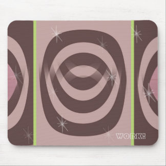 Mousepad RETRO MAUVE PATTERN
